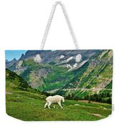 Logan Pass Mountain Goat Weekender Tote Bag