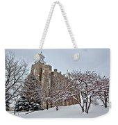 Logan Temple Winter Weekender Tote Bag