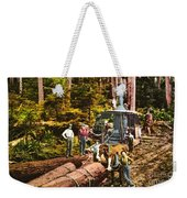 Logging With Steam Donkey Engine Near Olympia Washington Circa 1900 Weekender Tote Bag