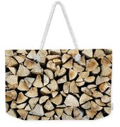 Logs Background Weekender Tote Bag