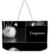 Onion Kitchen Art - L'oignon - Black And White Weekender Tote Bag