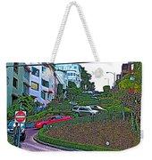 Lombard Street In San Francisco-california  Weekender Tote Bag