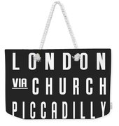 London City Subway Weekender Tote Bag