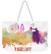London England Skyline Pastel Weekender Tote Bag