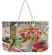 London England Vintage Travel Collage  Weekender Tote Bag