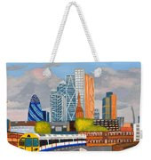 London Overland Train-hoxton Station Weekender Tote Bag