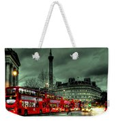 London Red Buses And Routemaster Weekender Tote Bag by Jasna Buncic
