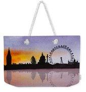 London Skyline At Sunset Weekender Tote Bag