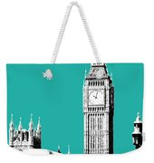 London Skyline Big Ben - Teal Weekender Tote Bag