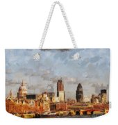 London Skyline From The River  Weekender Tote Bag