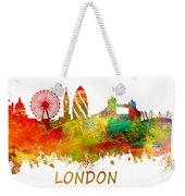 London Skyline Watercolor Weekender Tote Bag
