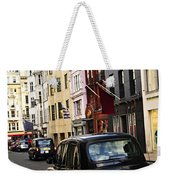 London Taxi On Shopping Street Weekender Tote Bag