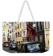 London Taxi On Shopping Street Weekender Tote Bag by Elena Elisseeva
