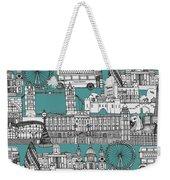 London Toile Blue Weekender Tote Bag