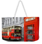 London With A Touch Of Colour Weekender Tote Bag