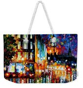 Londons Lights - Palette Knife Oil Painting On Canvas By Leonid Afremov Weekender Tote Bag