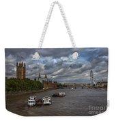 London's Thames River Weekender Tote Bag