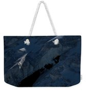 Lone Alpinist Silhouetted On Heavily Weekender Tote Bag