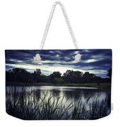 Lone Duck At Dusk Weekender Tote Bag