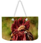 Lone Farm Rooster Portrait Weekender Tote Bag
