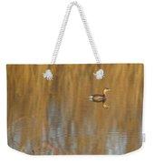 Lone Grebe Weekender Tote Bag