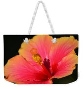 Lone Hibiscus Weekender Tote Bag