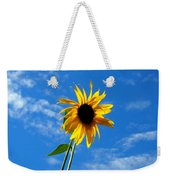 Lone Sunflower In A Summer Blue Sky Weekender Tote Bag