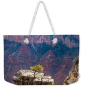 Lone Tree On Outcrop Grand Canyon Weekender Tote Bag