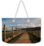 Lone Walker On The North Yorkshire Coastal Path Weekender Tote Bag