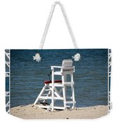 Lonely Lifeguard Station At The End Of Summer Weekender Tote Bag