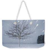 Lonely Tree In Snow Bavaria Weekender Tote Bag