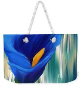 Lonesome And Blue- Blue Calla Lily Paintings Weekender Tote Bag