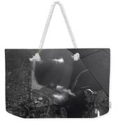 Long Beach Ca Aerial Bw Weekender Tote Bag