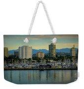 Long Beach Cityscape   Weekender Tote Bag