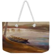 Long Boats At The Crossing Weekender Tote Bag