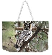 Long Eared Owl At Attention Weekender Tote Bag