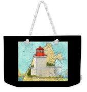 Long Eddy Pt Lighthouse Nb Canada Chart Art Peek Weekender Tote Bag