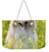 Long Haired Mixed Breed Weekender Tote Bag