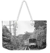 Long Island Railroad Pulling Into Station Weekender Tote Bag