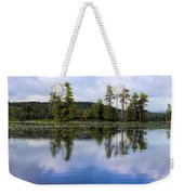 Long Lake Reflection Weekender Tote Bag