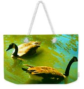 Long Neck Ducks Weekender Tote Bag