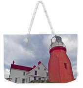 Long Point Lighthouse In Twillingate-nl Weekender Tote Bag