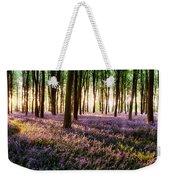 Long Shadows In Bluebell Woods Weekender Tote Bag