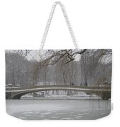 Long Snow Covered Bridge Weekender Tote Bag