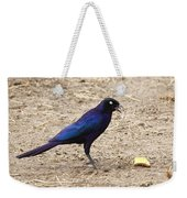 Long Tailed Glossy Starling  Weekender Tote Bag