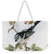 Long Tailed Tit And Rosehips Weekender Tote Bag