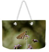 Long-winged Skipper Butterfly Weekender Tote Bag