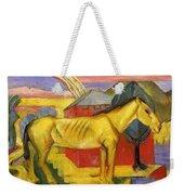 Long Yellow Horse 1913 Weekender Tote Bag