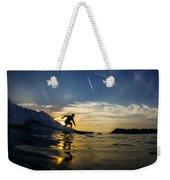 Longboarding Into The Sunset Weekender Tote Bag