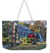 Longfellow's Wayside Inn Grist Mill In Autumn Weekender Tote Bag